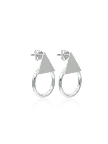 Cercei Argint - design minimalist si forme geometrice