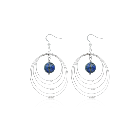 Cercei Galaxy din Argint si Lapis Lazuli